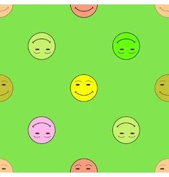 Smile happiness sign on green background vector