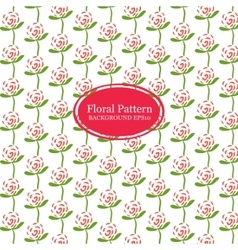 Rose flowers line pattern vector