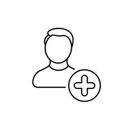account add create man new profile user icon vector image