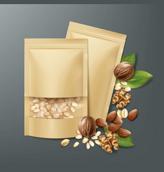 bags with nuts vector image vector image