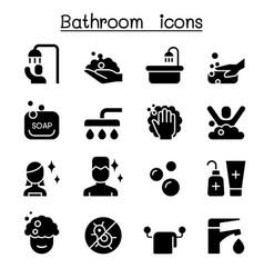 bathroom icon set graphic design vector image vector image