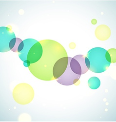 Bright circles background vector image vector image