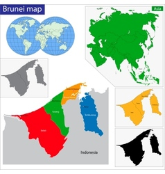 Brunei map vector image