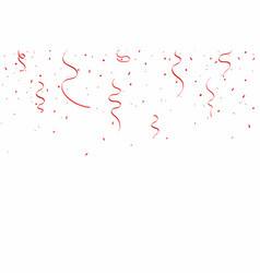 celebration background with red ribbons and vector image