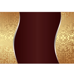 claret and gold background vector image vector image