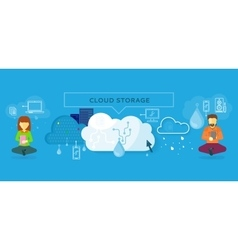 Cloud Storage Design Flat Concept vector image vector image