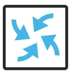 Cyclone arrows framed icon vector