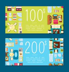 designer business card on vector image