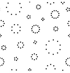 Dotted circles seamless pattern minimalistic vector