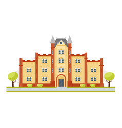 educational building university vector image vector image