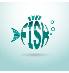 Fish logo ball vector image