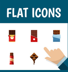 Flat icon bitter set of sweet bitter delicious vector