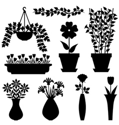 flower pot vasone vector image vector image