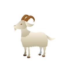 goat farm animal vector image