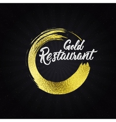 Gold restaurant insignia and labels for any use vector