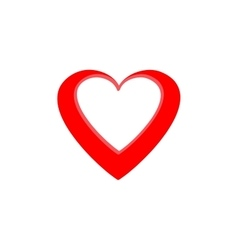 Heart red isolated vector image vector image