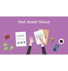 Net asset value nav with business man vector