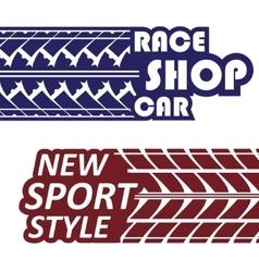 Race logotypes set vector