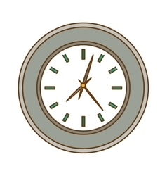 Silver wall clock icon image vector