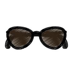 Sunglasses female fashion icon vector