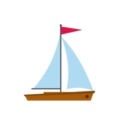Yacht icon in flat style vector