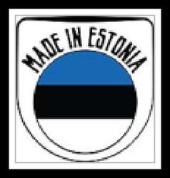 Made in Estonia rubber stamp vector image