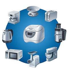 kitchen appliances icon vector image