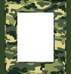 Camouflage photo frame vector
