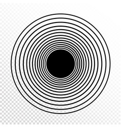 concentric circles progressive line weight design vector image