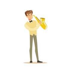 musician playing a saxophone vector image