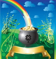 St patricks day rainbow vector