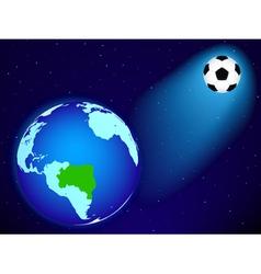 Earth and ball vector image