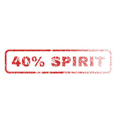 40 percent spirit rubber stamp vector