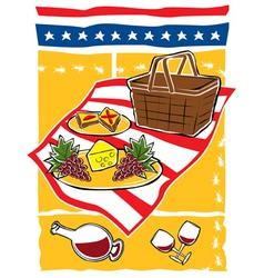 picnic scene vector image