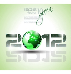 green 2012 vector image