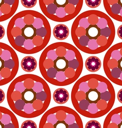 Pattern rings and circles vector