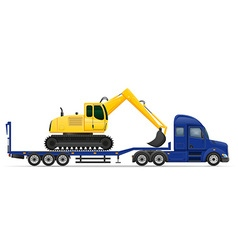 Semi truck trailer concept 12 vector