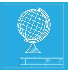 Earth globe sign white section of icon on vector
