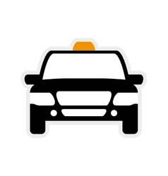 Taxi car icon public service graphic vector