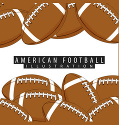 background of balls for american football vector image vector image