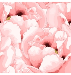 Beautiful seamless background with pink flowers vector