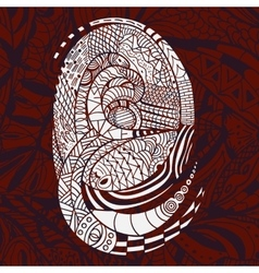 Ethnic white Pattern with Snakes vector image vector image