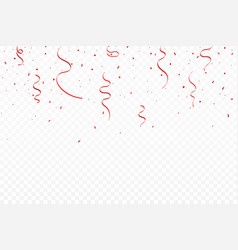 festive background with red scarlet ribbons and vector image