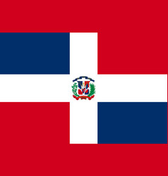 Flag dominican flat icon vector