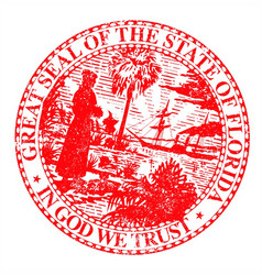 Florids state seal vector