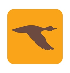 Flying duck icon vector
