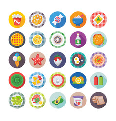 Food flat icons 8 vector