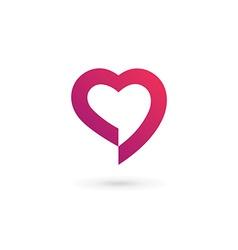Heart symbol speech bubble logo icon design vector image