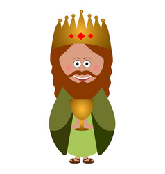 Isolated wise man vector