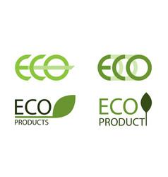 logo set of eco labels vector image vector image